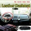 Для Mitsubishi Outlander 2006 2007 2008 2009 2013 кожаный Dashmat крышка приборной панели Dash Ковер На Заказ автомобильный Стайлинг LHD + RHD