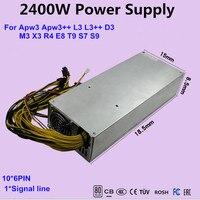 2400 Вт Мощность питания для ETH PSU, antminer BTC LTC комбайн PSU для S9/S7/L3 +/D3/T9/A8/E9/A4 + PK APW3 + antminer t9 ethereum PSU