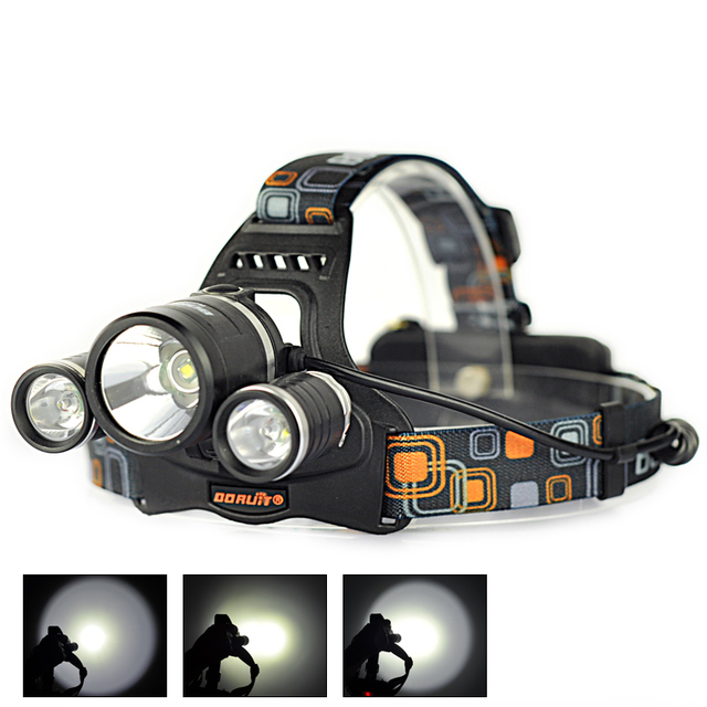 6000Lm 3x  XML T6 Rechargeable LED Headlight Headlamp Head Lamp Ligh For Bicycle Camping Hiking
