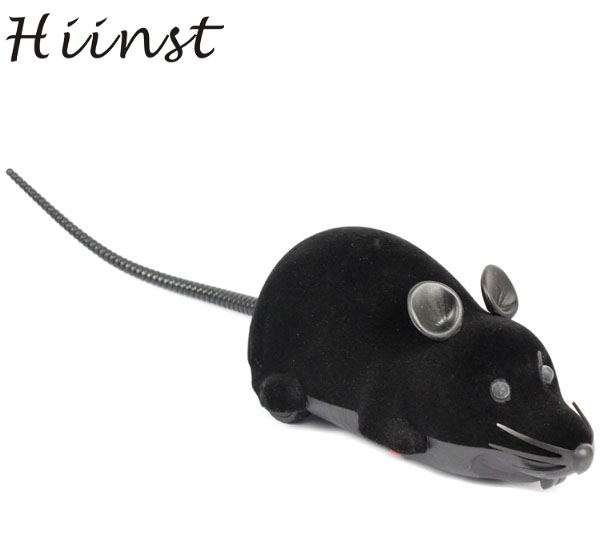 HIINST Best seller drop ship New Scary R/C Simulation Plush Mouse Mice With Remote Controller Kids Toy Gift Black S25 Ag14 ...
