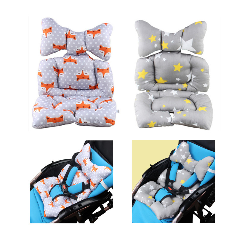 Children Car Safety Seat Cushion Cotton Stroller Pad Baby Full Body Support Sleeping Pad Mattresses Pillow Cover Chair Cushion