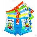 Free shipping Kids Cute Cartoon minions Boxer Boys Fashion Underwear Children Soft Modal Panties Color Random 10cps/lot
