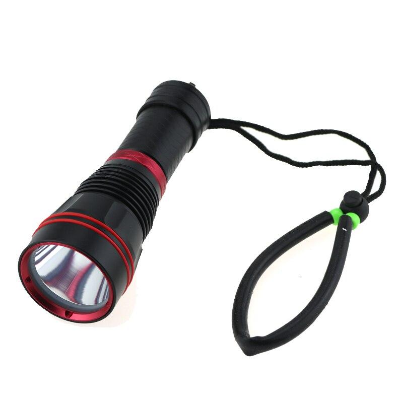 Tactical 2000 Lumen CREE XM-L L2 LED Diving Flashlight Underwater 100m Video Scuba Dive Torch Lamp Lanterna for 18650 / 26650 newest underwater scuba diving light 14000 lumen led torch cree 7 x xm l2 waterproof flashlight light for dive 26650 lanterna