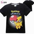 Nuevo POKEMON IR Ropa Niños Niños Niñas Camisetas Niños Ropa de bebé Niño de Manga Corta T-Shirt de Algodón Tops Tees Envío Libre gratis