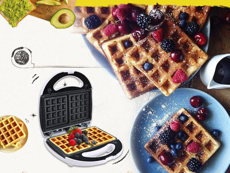 Multifunctional home muffin machine Waffle machine Donut maker Double-sided heating Bakeware can be removed and replaced 220V waffle maker home multi function automatic heating waffle machine can be rotated baker muffin electric baking pan 1pc