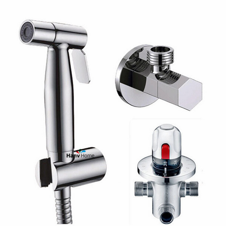 Thermostatic Bidet Faucets Mixers Taps Brass Hand Held