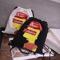 IVI 13.8 ''X 15.7'' de La Lona Bolso de Lazo Impreso Bolsas Sackpack Compras Mochila para los adolescentes y las mujeres