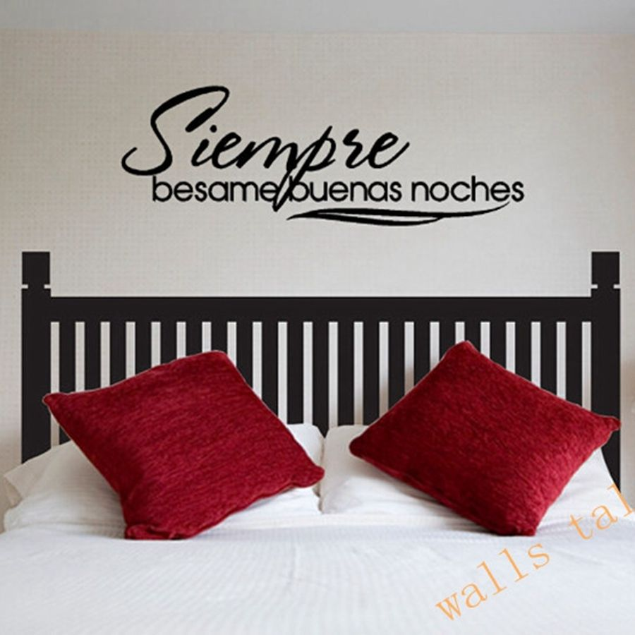 Spanish Outdoor Wall Decor : Free shipping siempre besame buenas noches spanish vinyl
