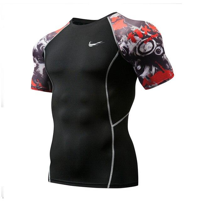 Новинка 2019, быстросохнущие топы, Мужская футболка, спортивные, облегающие футболки для футбола, брендовая футболка для бега, Demix, мужская спортивная одежда, Рашгард, мужской
