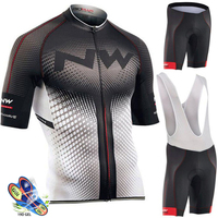 Northwave Nw Cycling Jersey Set Quick dry MTB Bicycle Cycling Clothing Kit Mountain MTB Bike Wear Clothes Maillot Ropa Ciclismo