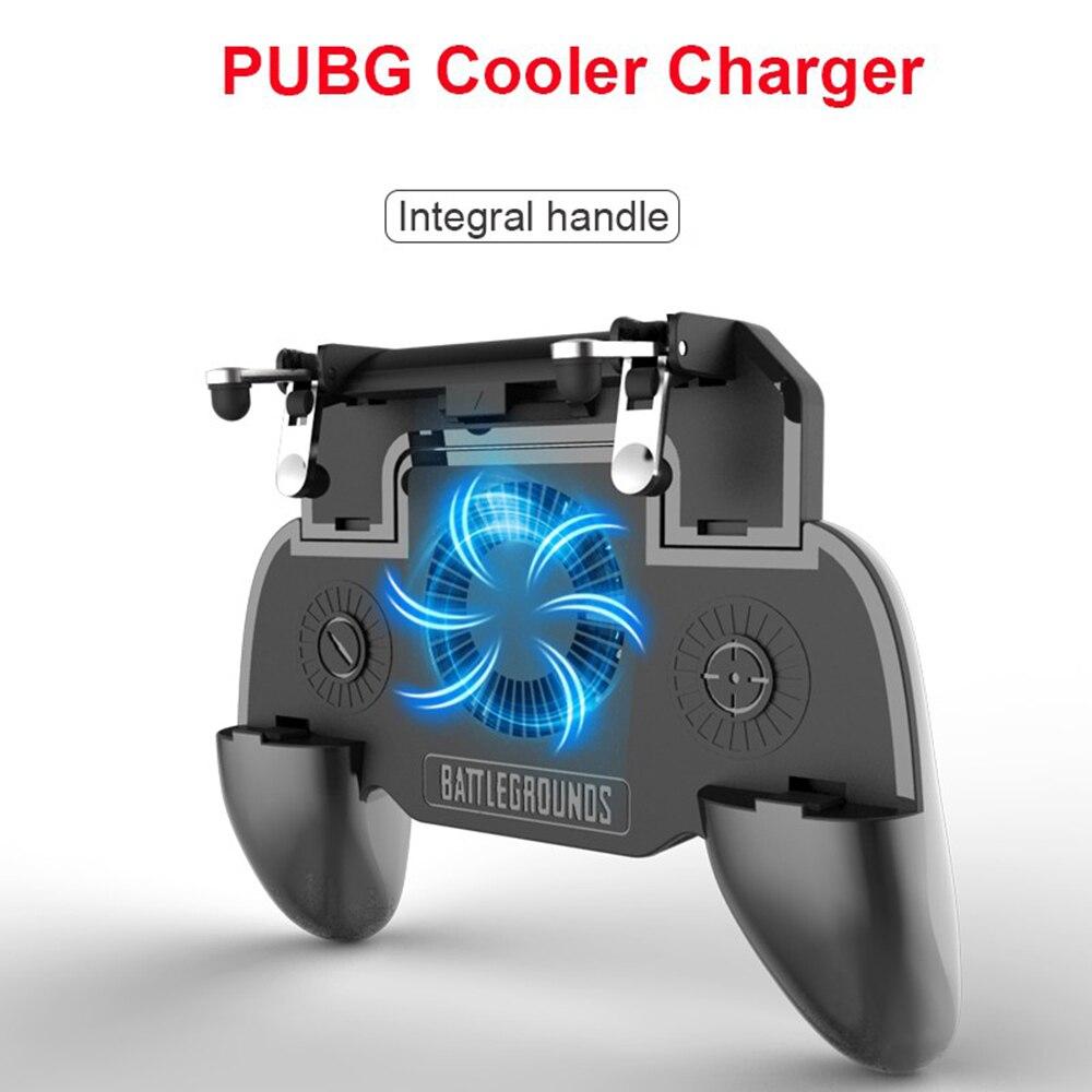 1 Pc Pubg Gamepad Teleskop Controller Mobile Controller Gamepad Gaming Trigger Mit Lüfter 500/4000 Mah