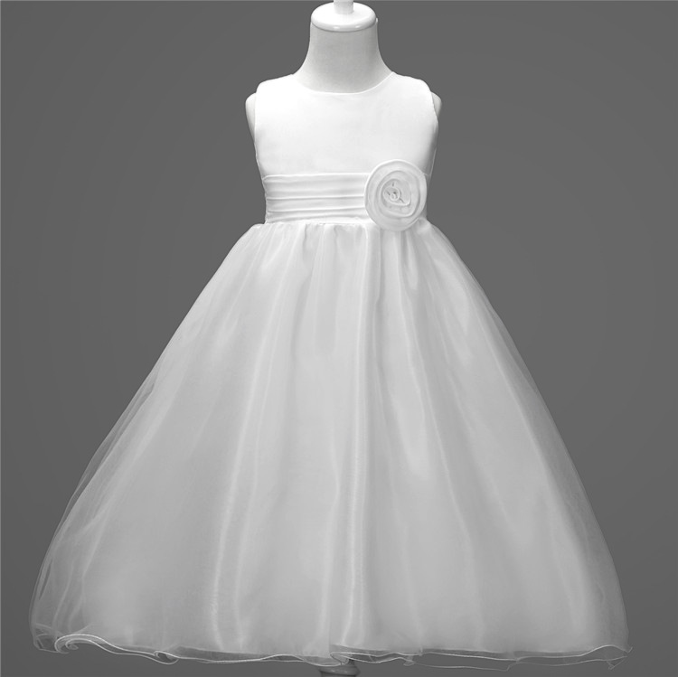 Fashion Sleeveless White Pink Lavender Toddler Flower Girl Dresses