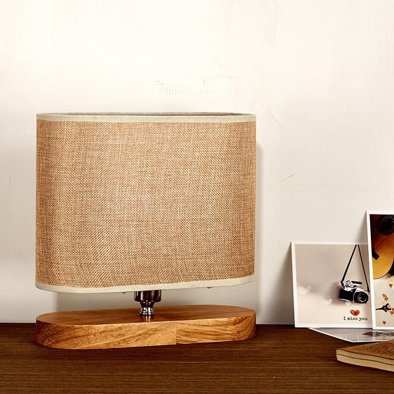 Nordic bedroom bedside lamp Table Lamps decoration modern minimalist fashion rural living room study Muji desk lamp LU623 ZL469