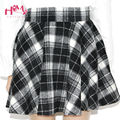 Women's Winter Woolen Skirt Party High Waist College Style Lattice Tutu skirt With Lining 5 Colors Pleated Plaid Skirt For Lady