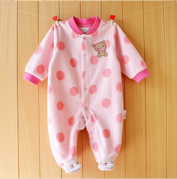 b5b353a15714 Clearance Sale Polar Fleece Baby Rompers Winter Warm Clothing for ...