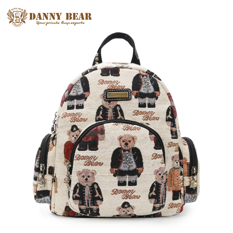 DANNY BEAR Original Design Small Backpacks For Women Preppy Style Back Pack Bags For College Students