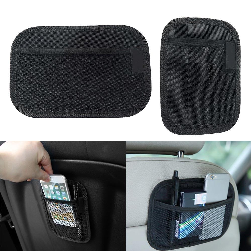 Car Back Rear Trunk Seat Elastic String Net Magic Sticker Mesh Storage Bag Pocket Cage Auto Organizer Seat Back Bag