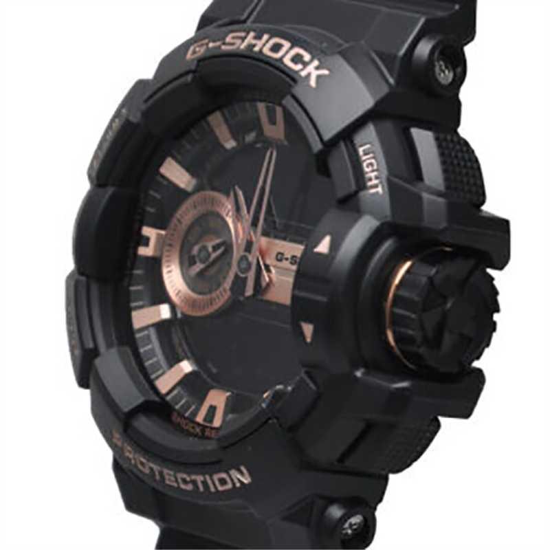 Casio שעון G-SHOCK סדרת ישר פעולת תחושת מסתובב כתר ספורט 20BAR עמיד למים גברים של שעון עלה זהב GA-400GB-1A4