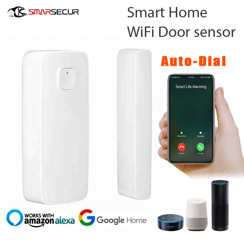 WIFI Door Sensor Open Entry Alert Home Security Detector Remote Control Alexa Google Home