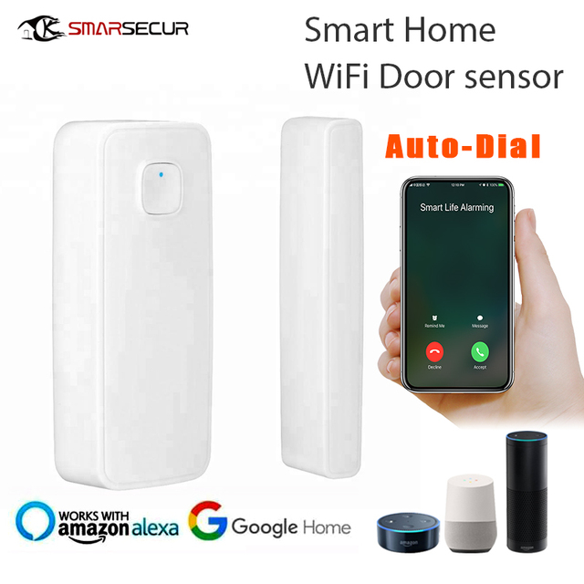 WIFI Door Sensor Open Entry Alert Home Security Detector Remote Control Alexa Google Home