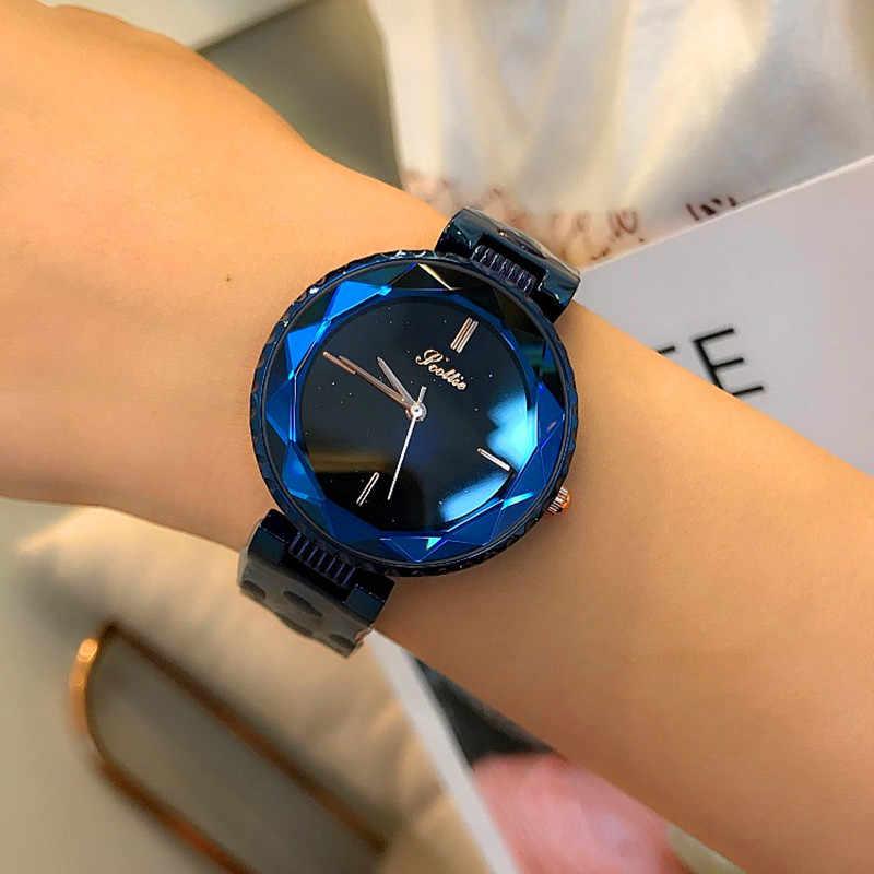 יוקרה מותג ליידי שעון נשים ריינסטון שמלה שעונים אופנה נירוסטה אישה קוורץ שעון חדש שעון נשים montre femme