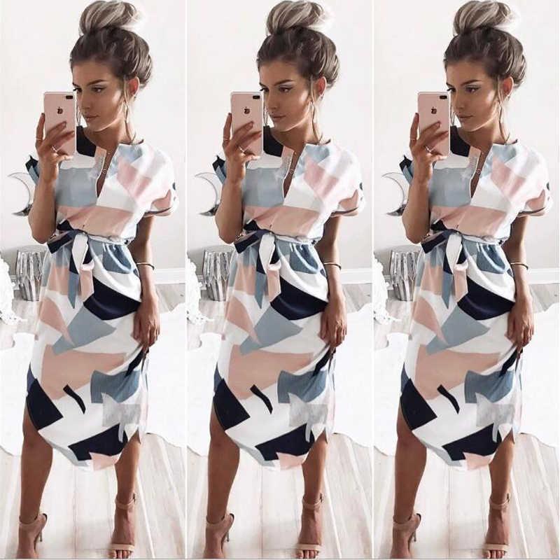 Женское летнее длинное платье 2019 с цветочным принтом Boho Пляжное Платье женское белое Макси вечернее платье Сарафан Vestidos de festa 3XL