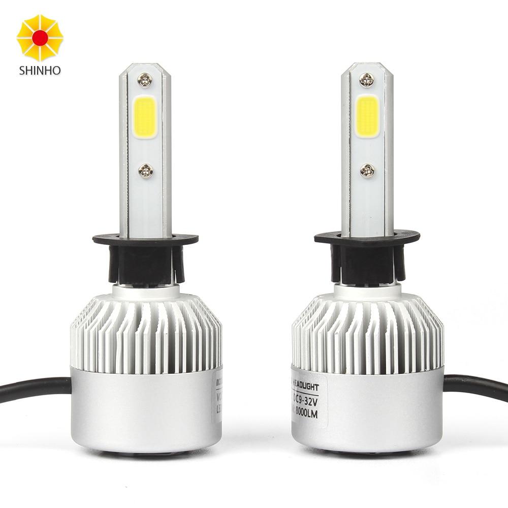 2 шт. x 6500K COB H1 светодиодный светильник высокой мощности 72 Вт 8000LM светодиодный автомобильный головной светильник s лампа DRL фара противотуман...