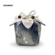 WIZAMONY 1 шт., пакетик для чая разных цветов для чаши для чая, китайская чайная церемония, хлопковая Портативная сумка для путешествий