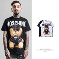 2017 Tide brand Men's T shirt summer High Street trend Europe United States bear leather toy Printed Tee Masculino tops clothing