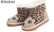 2017 winter wool boots baby children's snow boots children's shoes 1-2-3 year old baby shoes boys and girls boots
