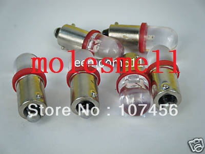 Free Shipping 10pcs T10 T11 BA9S T4W 1895 12V Red Led Bulb Light For Lionel Flyer Marx