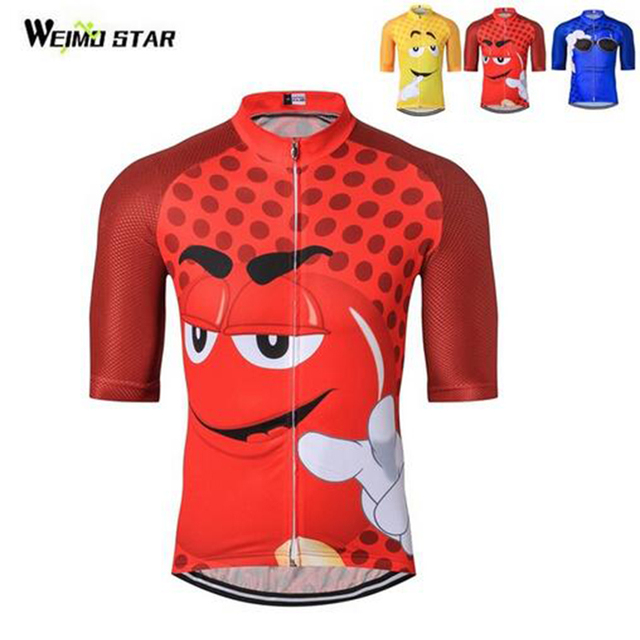 Cartoon Funny Men Cycling Jersey Pro Team Maillot Ciclismo Ropa MTB Bike  Jersey Cycling Clothing Yellow Red Blue a7f0705a8