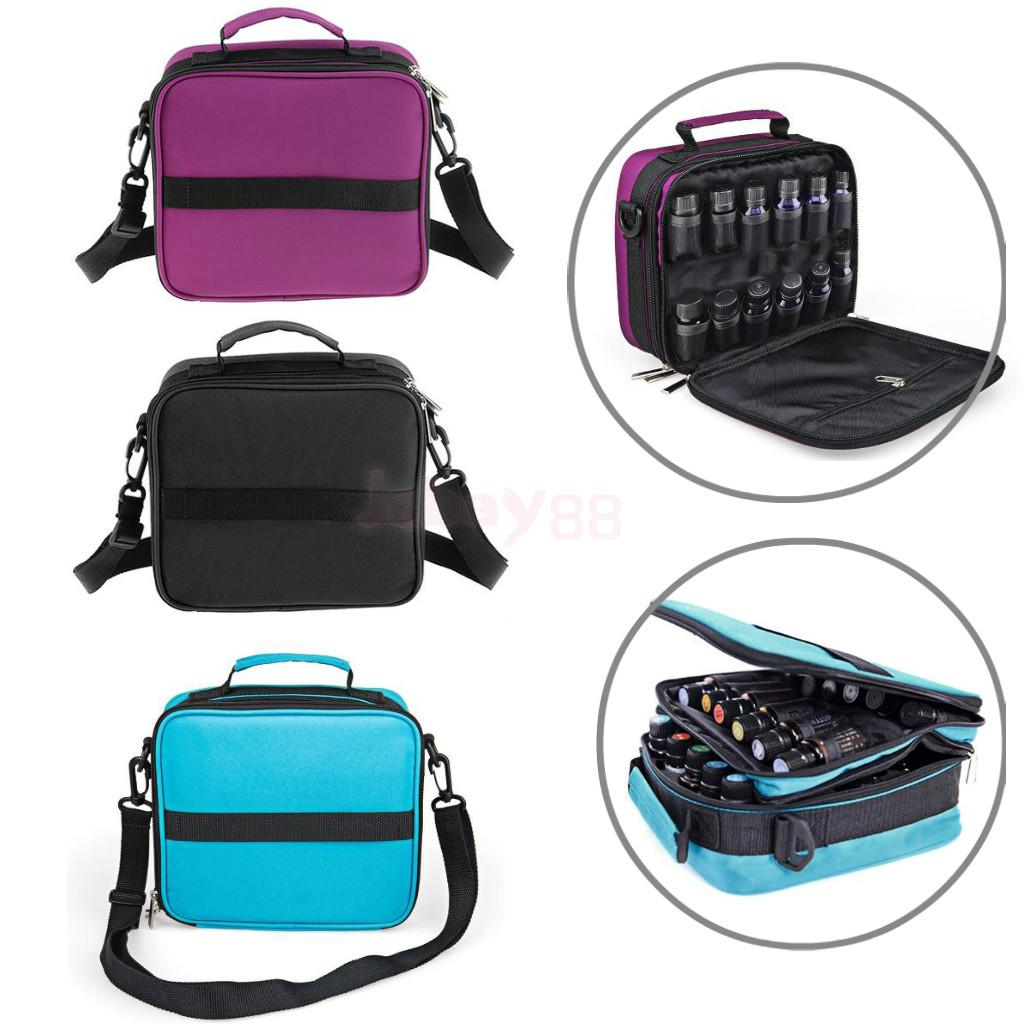 42 Compartments Essential Oils Travel Presentation Carrying Case Shoulder Strap Bag with Foam Insert for 5ml 10ml 15ml Bottles orvis richard wheatley 6 black box only compartments foam