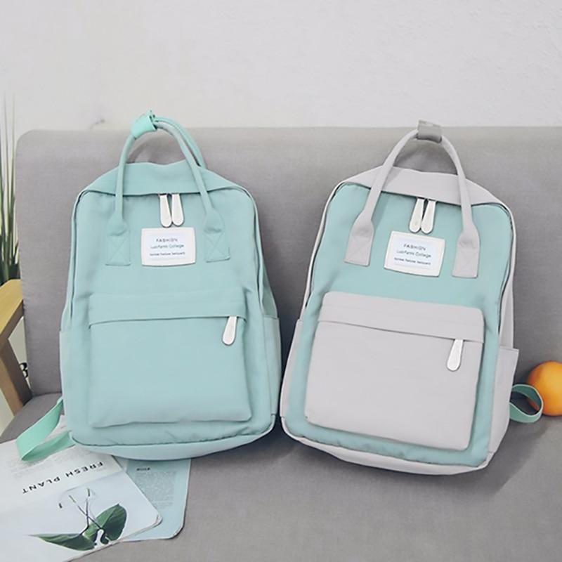 2018 Japan Fashion Women Backpack Waterproof Canvas Travel Backpack Female Teenagers Girls School Bagpack Female Bookbag Mochila цена 2017