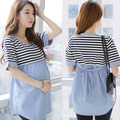 Summer Maternity Blouses Shirt Striped Nursing Top Blouse Shirts Breastfeeding Pragnancy Clothes For Pregnant Women Feeding
