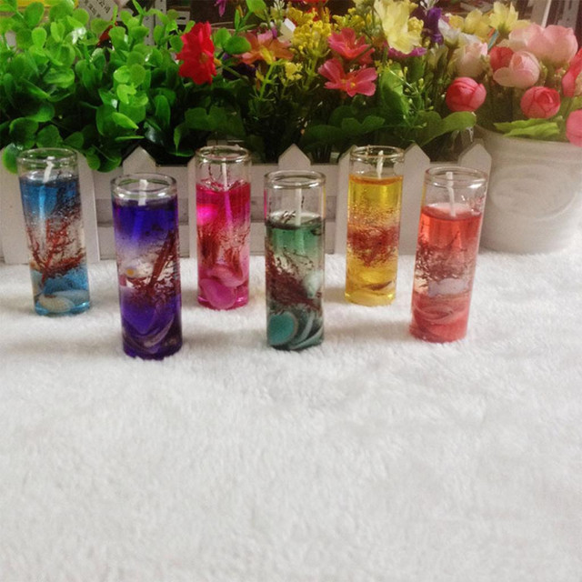 Smokeless Candles Romantic Ocean Shells Jelly Essential Oil Scented Candles Aromatherapy Wedding Candles Romantic #K35 2
