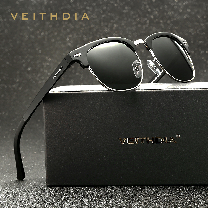 VEITHDIA Retro Unisex Aluminium Magnesium Herren Sonnenbrille Polarisierte Vintage Brillen Zubehör Sonnenbrille Für Männer Frauen 6690