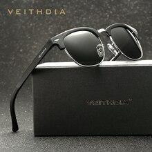 VEITHDIA Retro Aluminum Magnesium Brand Originl Box Men Sunglasses Polarized Vintage Eyewear Accessories Sun Glasses Oculos 6690