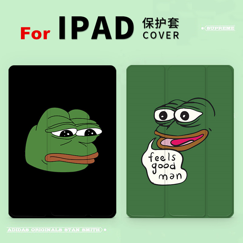 Smile sad Frog Magnet PU Leather Case Flip Cover For iPad Pro 9.7 10.5 Air Air2 Mini 1 2 3 4 Tablet Case For New ipad 9.7 2017 personal magnet pu leather case flip cover for ipad pro 9 7 10 5 air air2 mini 1 2 3 4 tablet case for new ipad 9 7 2017 a1822