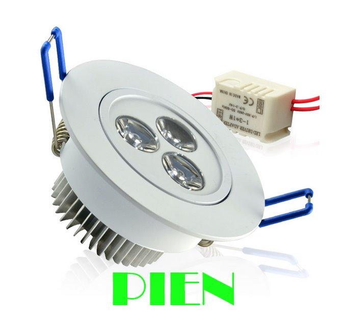 Dimmable 3W 5W 7W ledlightlight plafonnier led lamparas de techo - შიდა განათება - ფოტო 4