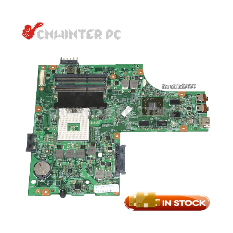 NOKOTION CN-052F31 052F31 52F31 48.4HH01.011 for dell inspiron 15R N5010 laptop motherboard HM57 DDR3 HD5650 1GB Free CPU nokotion laptop motherboard for dell inspiron n7010 mainboard ddr3 0gkh2c cn 0gkh2c gkh2c da0um9mb6d0 without graphics card