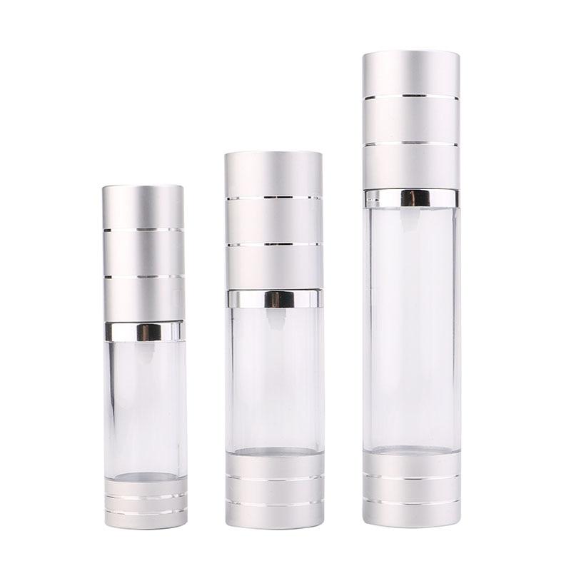 महिलाओं के लिए स्प्रे सुरुचिपूर्ण वायुहीन पंप कॉस्मेटिक बोतल यात्रा मेकअप एटमाइज़र पायस की बोतल के साथ वैक्यूम खाली इत्र की बोतलें