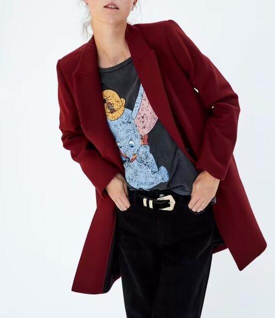 Las mujeres de invierno rojo largo abrigo de lana, una elegante botón Oversize Parka abrigo cappotto donna abrigos para mujer invierno 2019 - 4