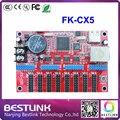 Feikong FK-CX5 levou placa controladora porta ethernet cartão de controle de LED 128*904 pixels p10 texto corrida ao ar livre conduziu a exposição tela