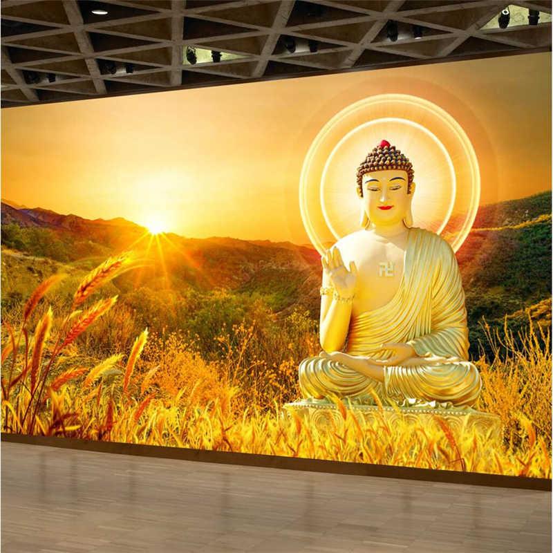 Beibehang Large Custom Wallpapers Hd Buddha Buddha Background Wall Paintings Decorative Paintings Photo Wallpaper Custom Wallpaper Photo Wallpaperwallpapers Hd Aliexpress
