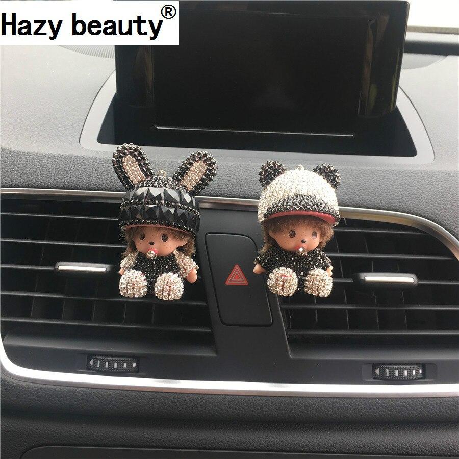 Bellezza nebuloso Coniglietto berretto con visiera Amanti sezione di uscita Dell'aria di automobile aria condizionata Profumo decorazione di Interni Auto-styling
