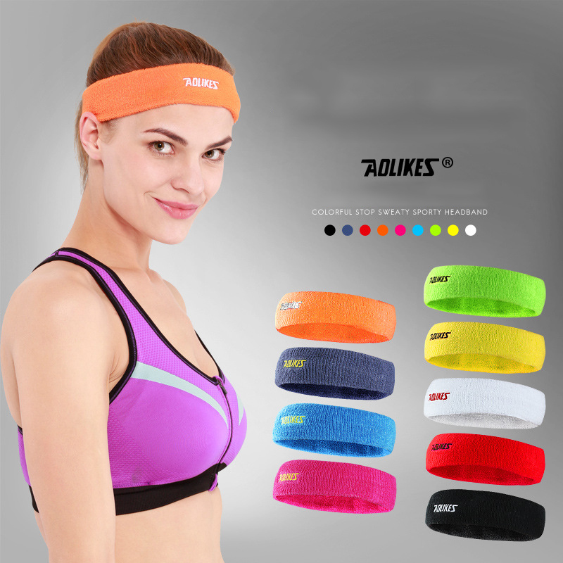 Outdoor Sports Fitness Yoga Running Headband Exercise Headwear Hairband Forehead Sweat Absorb Soft Elastic Colors For Men Women