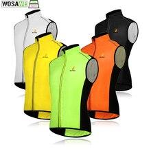 WOSAWE ветрозащитный Велоспорт жилет без рукавов велосипедов Майки Ветровка Водонепроницаемый велосипед светоотражающий жилет Для мужчин Для женщин спортивная верхняя одежда