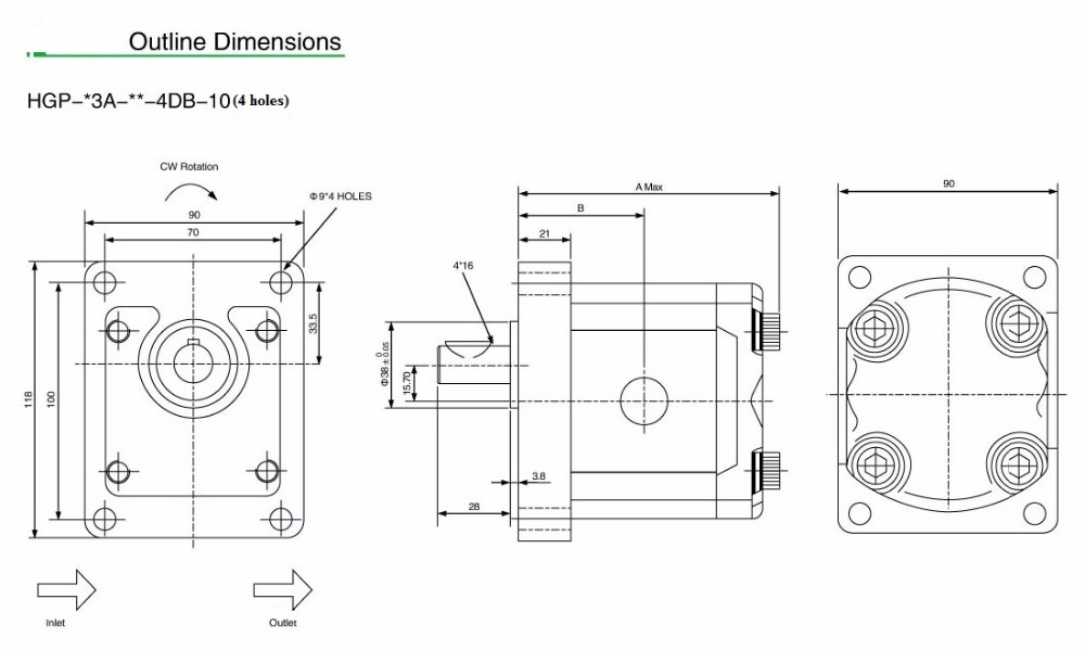 Φ ΦOlio idraulico pompa HGP-3A-F11R pompa ad ingranaggi pompa ad ... c7d7a3f62997