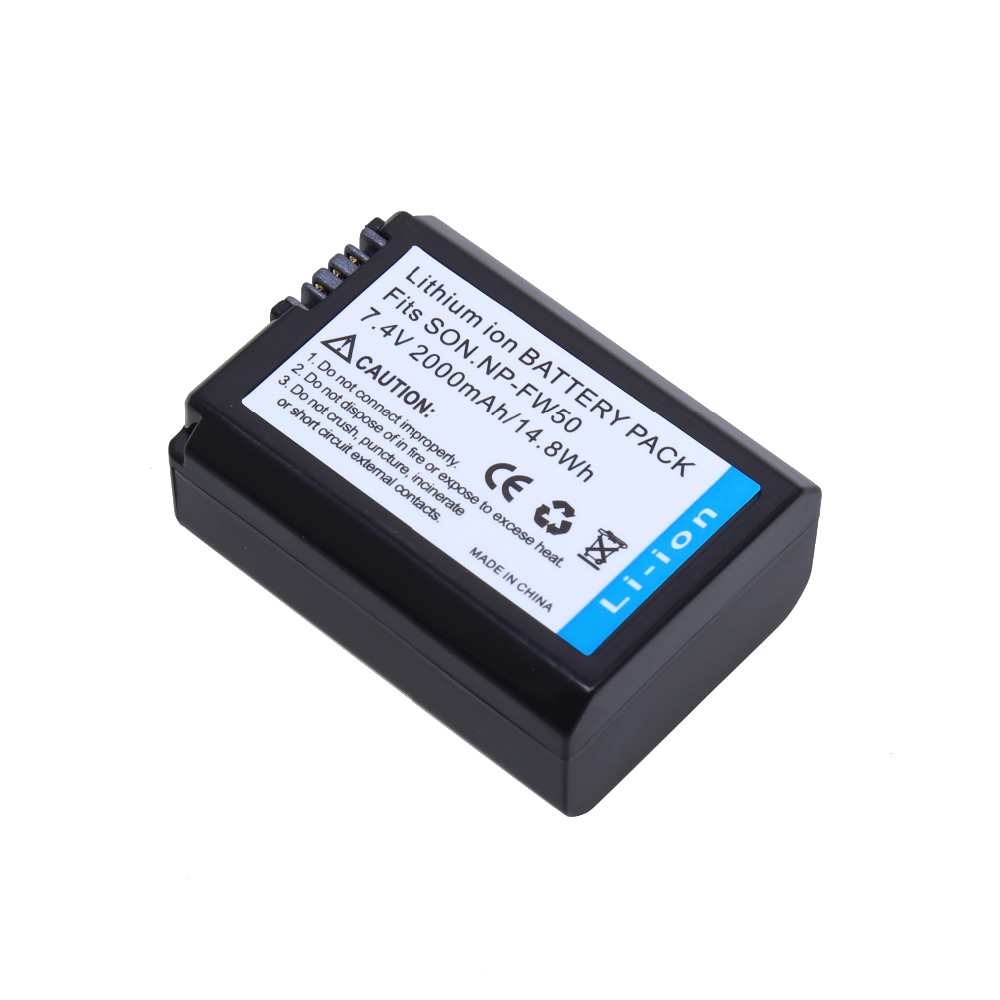 7 4V 2000mAh NP FW50 NP FW50 NPFW50 digital camera Battery for Sony Alpha A33 NEX